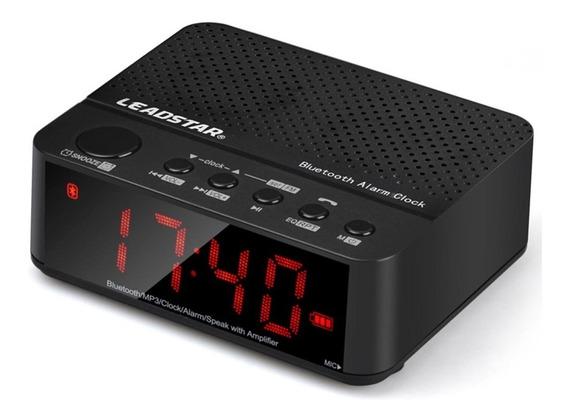Rádio Relógio Speaker Caixa De Som Despertador Bluetooth Led