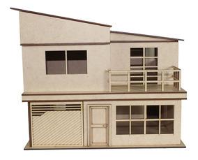 Maquete De Casa Sobrado Para Montar - Mdf 3mm - Kit Completo