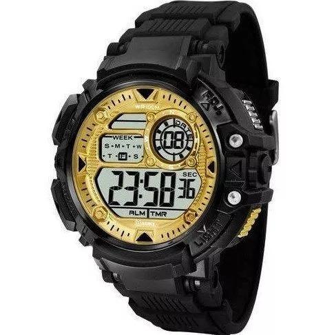 Relógio Masculino X-games Digital Xmppd476 Preto Dourado Lan