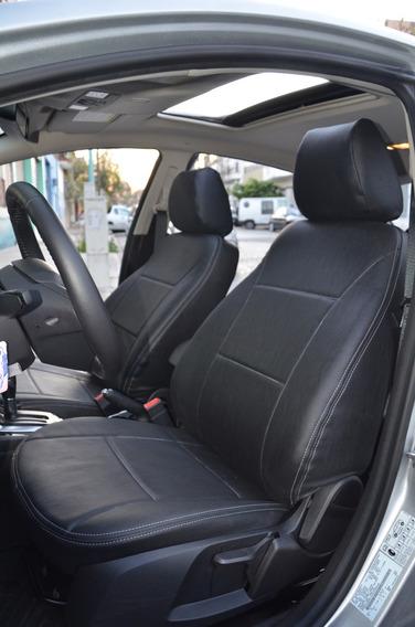 Fundas Asientos Cuerina Premium Renault Logan -carfun-