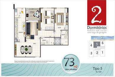 Imagem 1 de 9 de Apartamento Em Praia Grande Bairro Aviação - V2977
