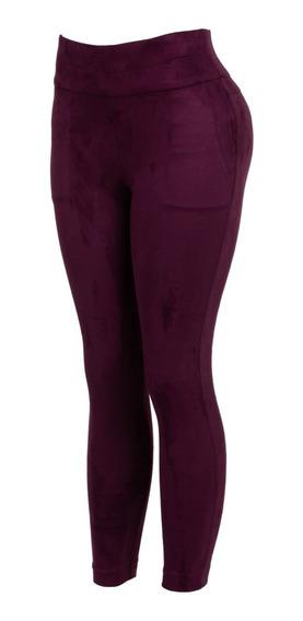 Pantalon Gamuza De Vestir Con Bolsas Estrech Casual Oficina.