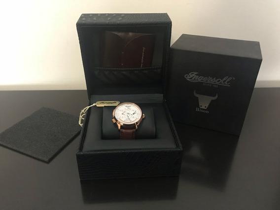 Reloj Ingersoll 100% Original Modelo Bison Automático Piel
