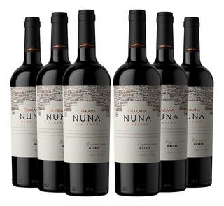 Vino Tinto Malbec Nuna Vineyard (6x750 Ml) Organico