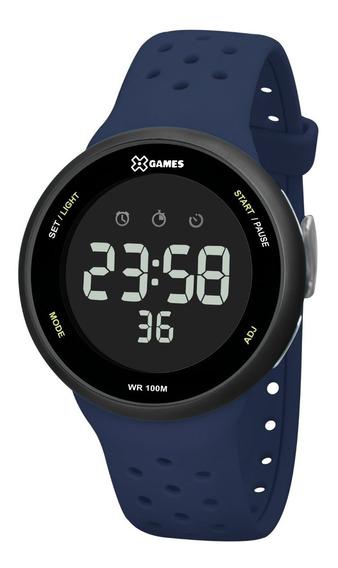 Relógio X-games Masculino Digital Xmppd544 Preto Azul