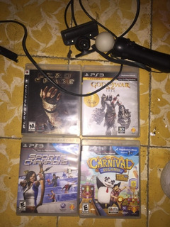 Pack De Juegos Y Psmove Para Ps3
