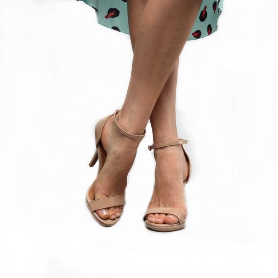 Sapato Clássico Branco Tira Fina Slim Salto Alto 9cm Moderno