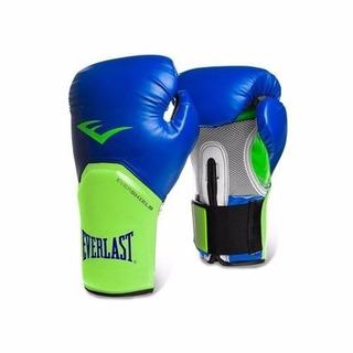 Guantes Box Everlast Azul Verde Xe2614 14oz Entrenamiento