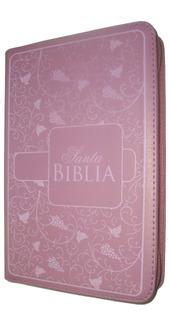 Biblia Reina Valera 1960 21x15 Cm, Cierre, Rosa Letra Grande