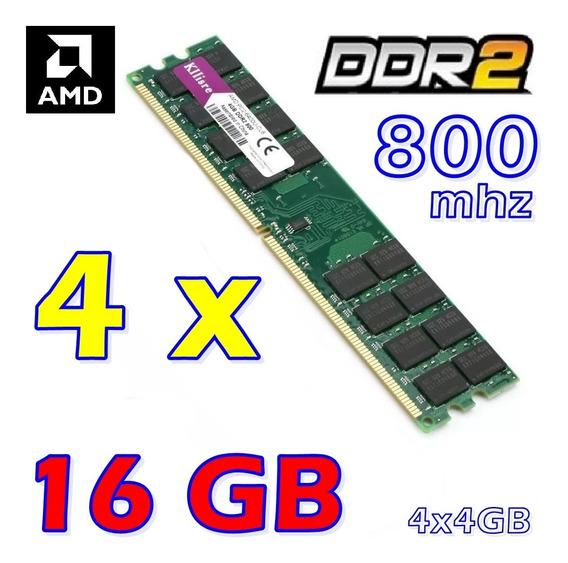 Kit Memória Ddr2 16gb (4x4gb) Apenas Para Amd