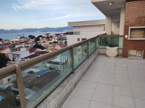 Imagem 1 de 29 de Vendo Cobertura Duplex Em Balneário Estreito Fpolis Sc, 4 Dormitórios Senso 2 Suítes 3 Vagas De Garagem, Piscina. - Cb340