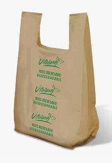 10 Kilos De Bolsa Camiseta Biodegradable Impresión Generica