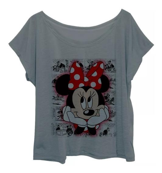 Blusa Blusinha Feminina Plus Size Estampada Minnie Quadrinho