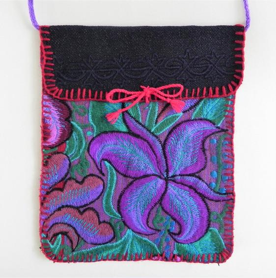 Bolsa En Bordado De Flores Artesanal Chiapaneco, Artes #21