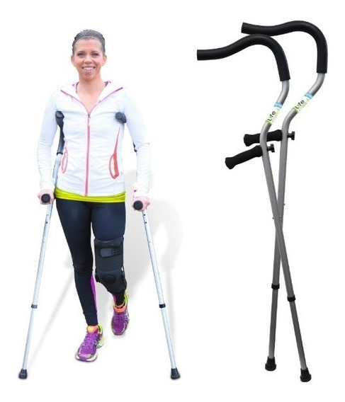 Muletas Life Crutch By Millennial Medical, 1 Pair Of Crutche