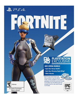 Fortnite Playstation 4 Neo Versa + 500 Pavos Codigo Oficial