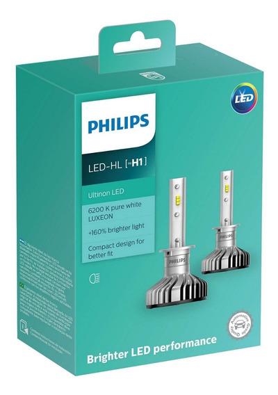 Par Lâmpada Philips Ultinon Led H1 6200k Super Branca 12v