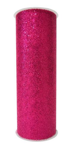 Imagen 1 de 1 de Rollo De Tul Diamantado, Diferentes Colores, 15 Cm X 9.1 M