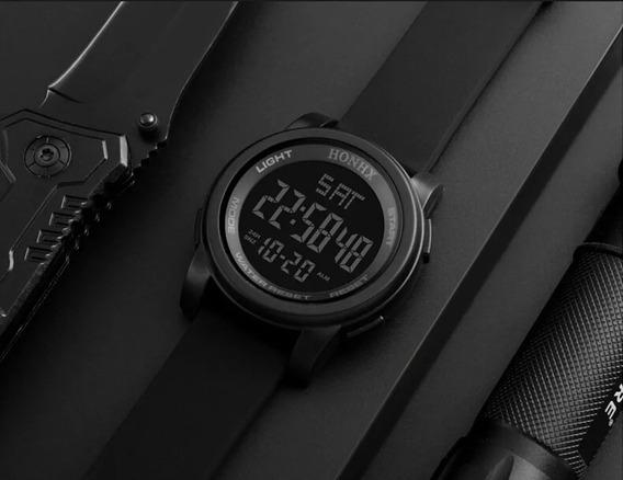 Relógio Digital Masculino Preto Frete Gratis