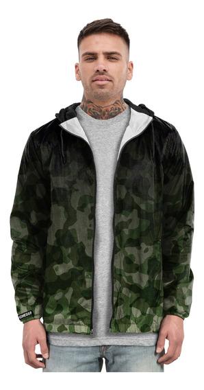 Jaqueta Blusa Casaco Corta Vento Camuflado Verde Barato Moda