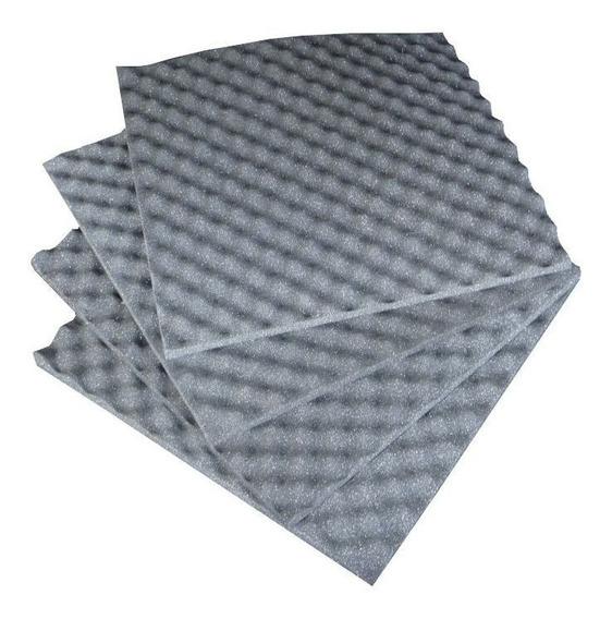Espuma Acústica Caixa De Ovo Kit 20 Placas 50x50x2 Cm