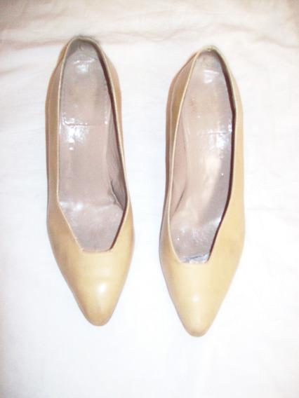 Aurojul Zapatos Cuero De Vaca ,numero 37- 5.5 Cm Taco