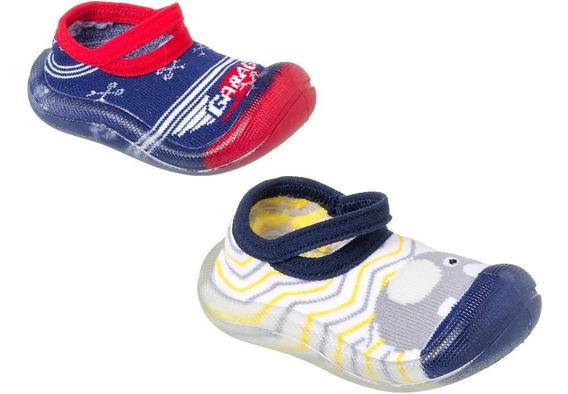 Meia Sapatilha Com Sola Infantil Keto Baby Kit 2 Pares Pret
