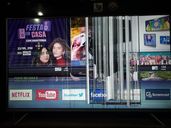 Tv Semp Toshiba Tcl 55k1us C/ Tela Danificada