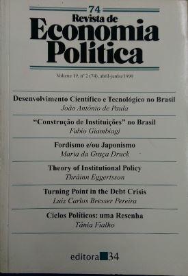 Revista De Economia Política Vol. 19 Nº2 João Antonio De Pa