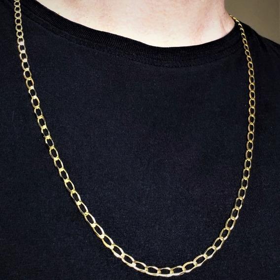 Corrente Masculina Grumet 70cm Banhada Em Ouro 18k 3521