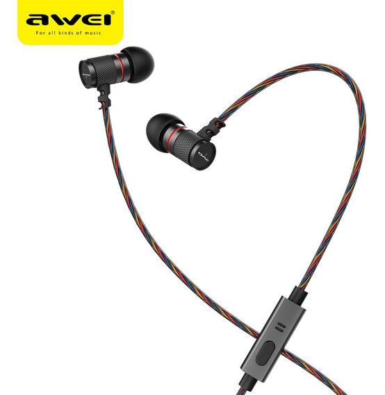Fone De Ouvido Bluetooth Intra Auricular Awei Es660i Com Mic