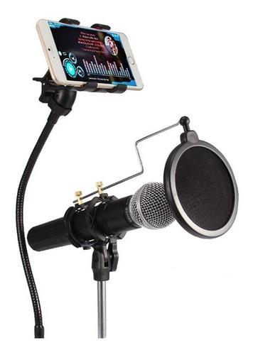 Soporte Para Microfono Brazo Con Filtro Pop Soporte Celular
