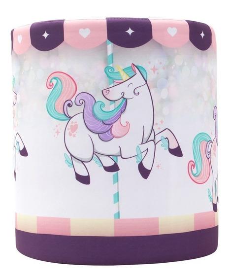 Puff Redondo Unicornio Decoração Sala Quarto - Frete Grátis