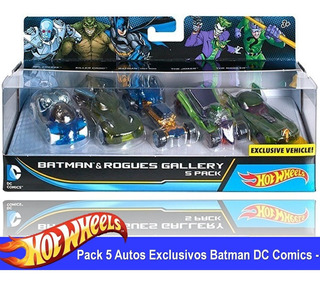 Autos Hot Wheels Batman Pack Dc Comics X 5 Unidades Exclusi