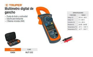 Multimetro Digital Pinza Voltiamperimetrica Truper