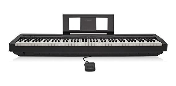 Piano Digital Yamaha P45 Preto + Fonte + Pedal Sustain + Nf
