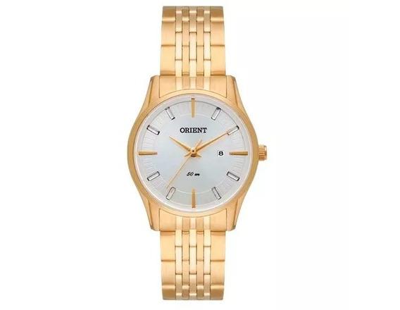 Relógio Feminino Orient Fgss1118 Dourado Com Calendário