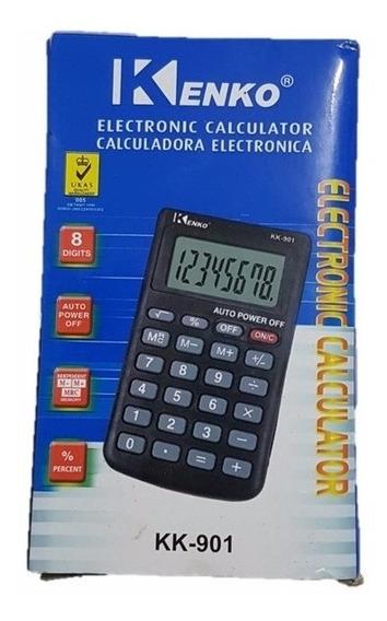 Kit 7 Calculadoras Eletrônica Portátil Kenko C/ Case Kk - 90