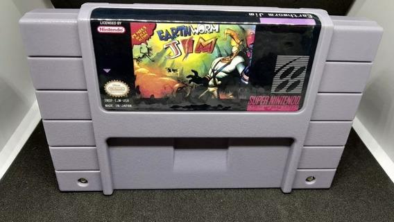 Fita / Cartucho Earthworm Jim 1 Super Nintendo Snes