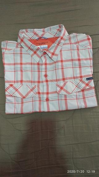 Camisa Columbia Secado Rápido (manga Corta Talle Xl Hombre)