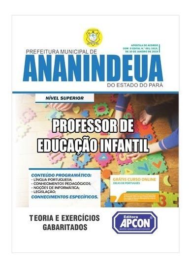 Apostila Pref. De Ananindeua Professor De Educação Infantil