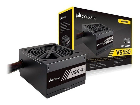 Fonte Corsair Vs550 550w 80 Plus White Pfc Ativo Bivolt