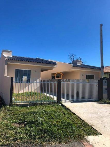 Casa Com 2 Dormitórios À Venda, 54 M² Por R$ 192.000,00 - Sabiá - Araucária/pr - Ca1424