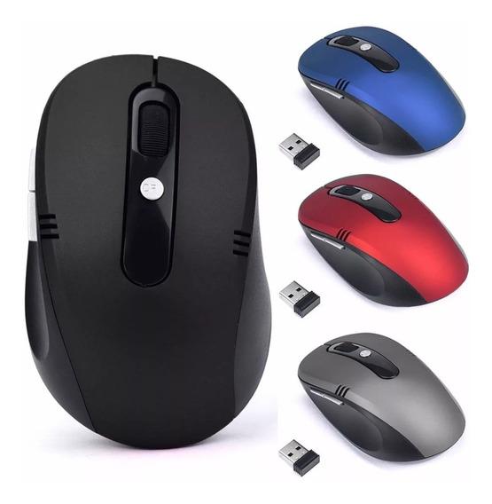 Mouse Óptico Sem Fio Usb Wi-fi Para Notebook E Pc -