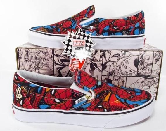 Tênis Vans Slip On - Marvel (spider Man)