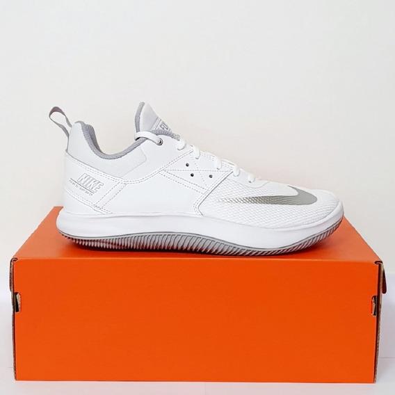 Tênis Nike Fly By Low 2 Branco E Prata Original