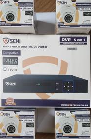 Kit Cftv 04 Câmeras Semi Flex Hd 4 Em 1 Dome 1080p Dvr 04