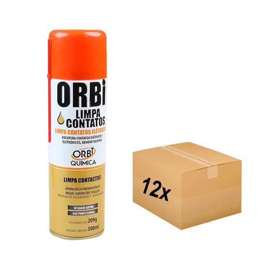 Limpa Contato Elétrico Spray 300ml Orbi Caixa Com 12