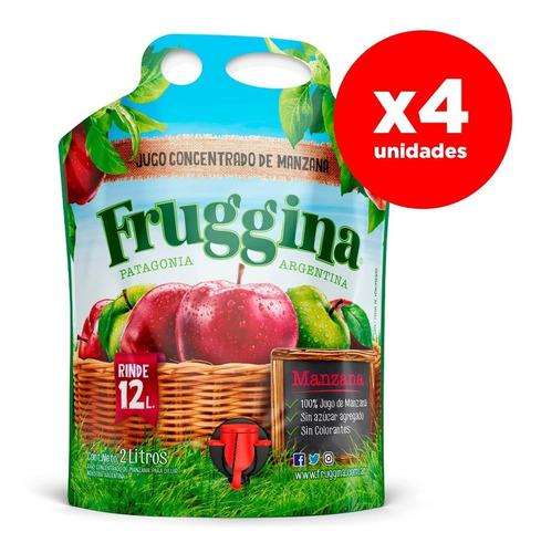 Jugo Concentrado De Manzana Fruggina. Pack 4 X 2 Lts