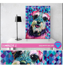 Cuadro Art Pet Love - Schnauzer 2.